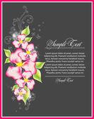 Fond avec fleur décorative — Vecteur