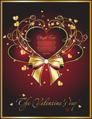 Beauty valentine card — Vector de stock