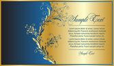 Elegance blue-gold background — Stock Vector