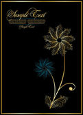 Elegance abstract flower — Stock Vector