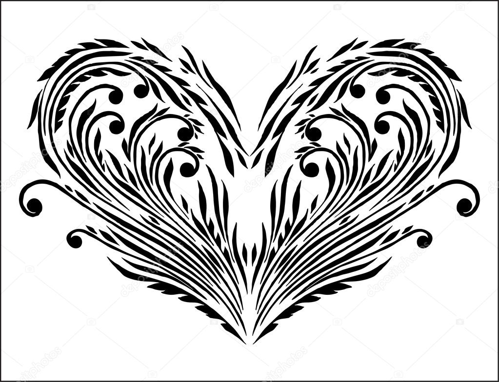 Abstract floral  heart — Stock Vector #4262063