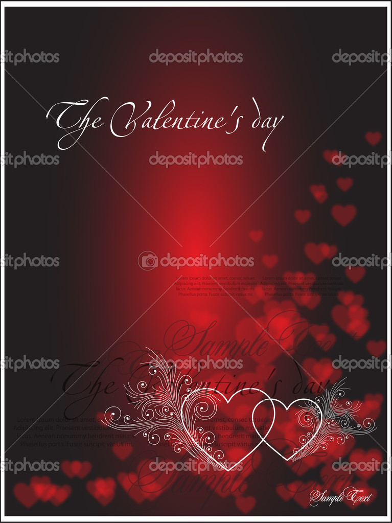 Red valentine card — Stock Vector #4262754