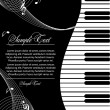 tema musical — Vector de stock