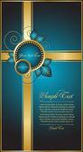 Decorative blue illustration — Stock Vector
