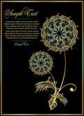 Flower card design — Stock Vector