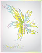 Abstract flourish illustration — Stock Vector