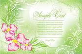 Romantic green Flower Background — Stockvektor