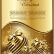 Vector beautiful  gold balls — Image vectorielle