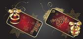 Modelos de cartão de desconto vermelho, vector — Vetor de Stock