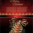 Vector de stock : Christmas background with baubles