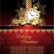 Royalty-Free Stock Imagem Vetorial: Merry christmas red  elegant background