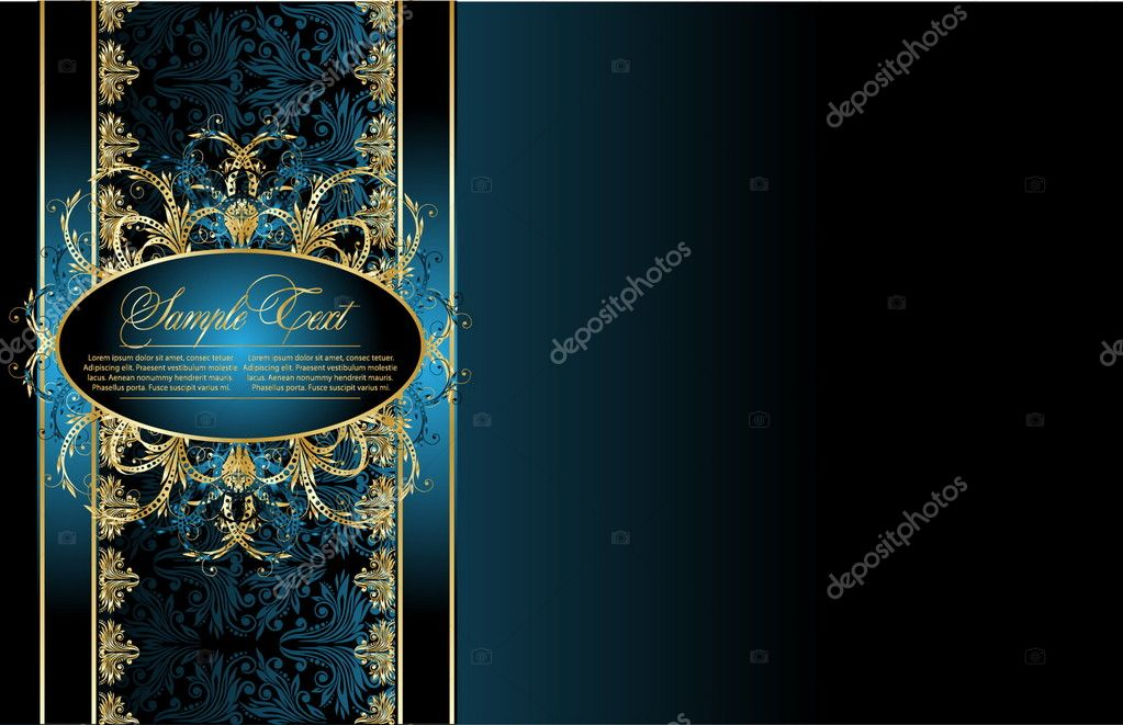 Elegant gold floral background — Stock Vector #4456630