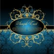 Antique decorative blue background - Stock vektor