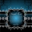 decorativo fundo azul — Vetorial Stock