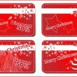 4 Christmas banners - Stock Vector