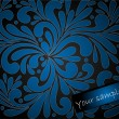 Vetorial Stock : Blue floral background