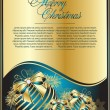 Blue xmas card templates, vector — Vettoriali Stock