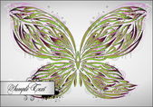 Bellissimo sfondo astratto con farfalla — Vettoriale Stock