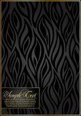 Black floral Pattern. — Stock Vector