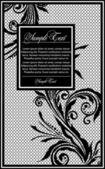 Black lace vector design — Stock Vector