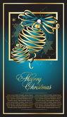 Blue Christmas postcard illustration — Stock Vector