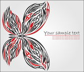 Decorative butterfly — Vetor de Stock