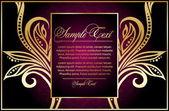 Floral design card — Stock Vector