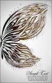Mariposa de pintura — Vector de stock