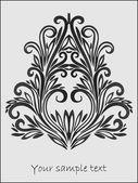 Vector floral decor — Stock Vector