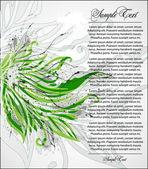 Vector green floral illustration — Stock Vector