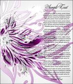 Vector violette bloemen illustratie — Stockvector