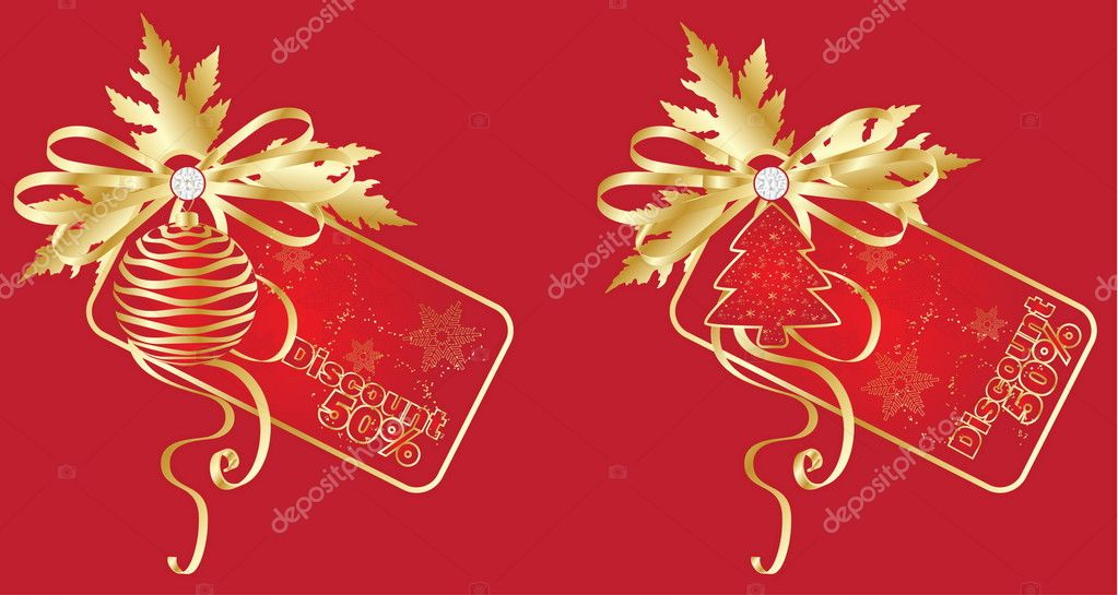 Discount card templates, vector — Stock Vector #4486824