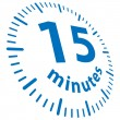 Vector de stock : 15 minutos