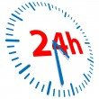 24h opened - Stock Vector
