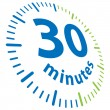 30 minutos — Vector de stock  #4895299