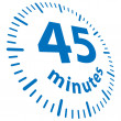 45 minutes — Stock Vector #4895311