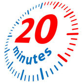 20 minuti — Vettoriale Stock
