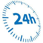 24h otwarty — Wektor stockowy