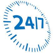 24h abierto — Vector de stock