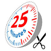 25 minutes — Stock Vector