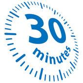 30 minuti — Vettoriale Stock