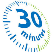 30 minutes — Stock Vector