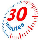 30 минут — Cтоковый вектор
