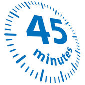 45 minutes — Stock Vector