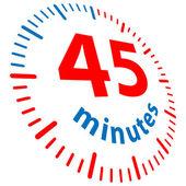 45 минут — Cтоковый вектор
