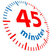 45 minuti — Vettoriale Stock