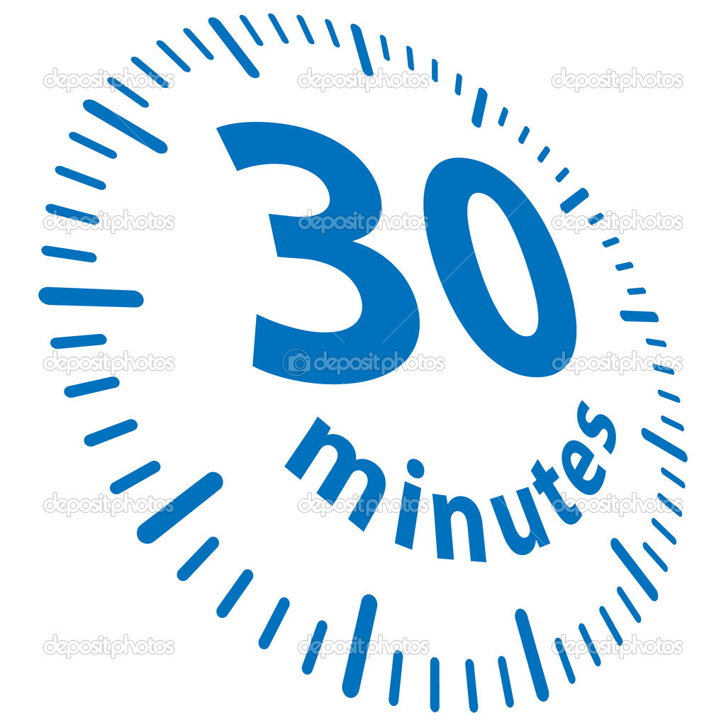 30 minutes delivery — Stock Vector #4895295