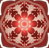 Abstract fractal kaleidoscope background. raster image . — Foto Stock