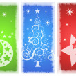 Beautiful background Christmas (New Year) card . — Stok fotoğraf