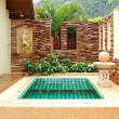 Stock Photo: Outdoor jacuzzi at luxury villa, Koh Chang, Thailand